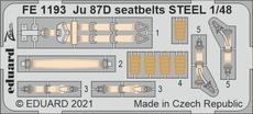 Ju 87D seatbelts STEEL 1/48