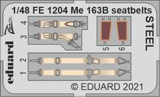 Me 163B seatbelts STEEL 1/48