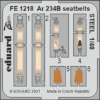 Ar 234B seatbelts STEEL 1/48