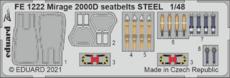 Mirage 2000D seatbelts STEEL 1/48