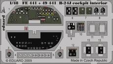 B-24J コクピット内装 接着剤塗布済  1/48