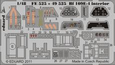 Bf 109E-4 内装 接着剤塗布済 1/48