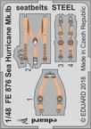 Sea Hurricane Mk.Ib seatbelts STEEL 1/48