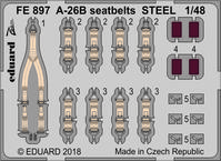 A-26B seatbelts STEEL 1/48