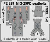 MiG-25PD シートベルト スチール 1/48