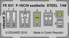 F-16C/N seatbelts STEEL 1/48