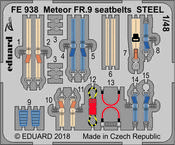 Meteor FR.9 seatbelts STEEL 1/48