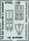 Tempest Mk.V seatbelts STEEL 1/48