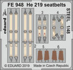 He 219 seatbelts STEEL 1/48