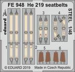 He 219 upínací pásy OCEL 1/48