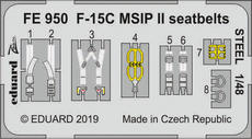 F-15C MSIP II seatbelts STEEL 1/48
