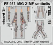 MiG-21MF seatbelts STEEL 1/48