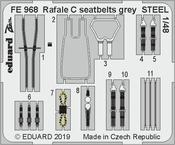 Rafale C seatbelts grey STEEL 1/48