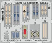 Hunter F.6 upínací pásy OCEL 1/48