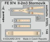 Il-2m3 Stormovik seatbelts STEEL 1/48