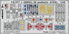 L-39MS/L-59 seatbelts STEEL 1/48