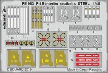 F-4B интерьер, стальные ремниseatbelts STEEL 1/48