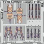 L-29 Delfin, стальные ремни 1/48