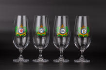 Beer Glass Set - Czechoslovak Squadrons RAF (4pcs)