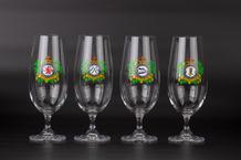 Kolekce pivních sklenic – čs. perutě RAF (4ks)