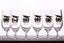 Eduard Friedrich Beer glass collection (6 pcs)