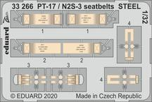 PT-17 / N2S-3 seatbelts STEEL 1/32