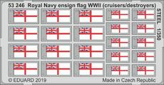 Royal Navy ensign flag WWII (cruisers/destroyers) STEEL 1/350