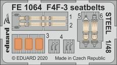F4F-3 стальные ремни 1/48