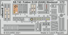 Fokker D.VII (OAW) Weekend 1/72