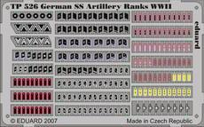 Hodnosti Německo dělostřelectvo SS 2.sv.v. 1/35