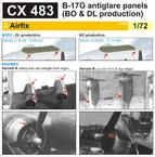 B-17G antiglare panels (BO & DL production) 1/72