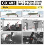B-17G panely proti oslnění (výroba BO & DL) 1/72