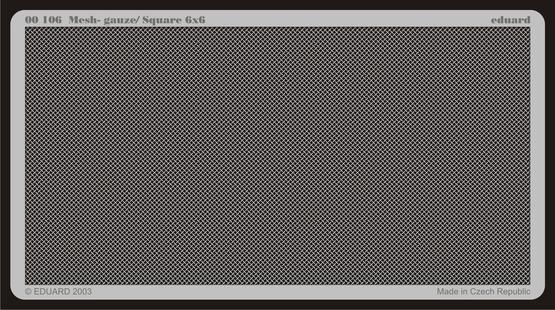 メッシュ - ガーゼ/ 四角形 6x6  - 1