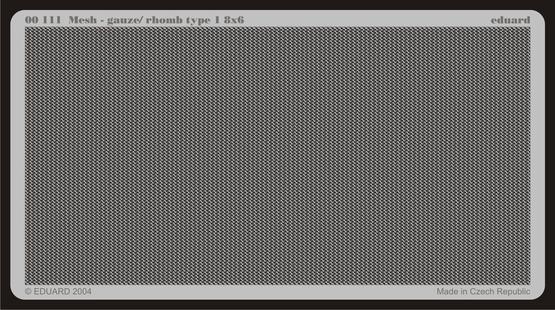 メッシュ - ガーゼ/ 菱形タイプ 8x6  - 1