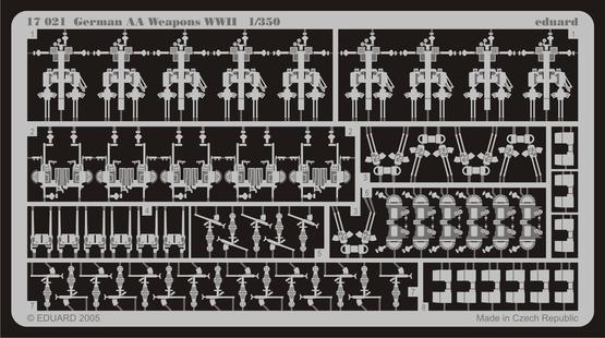 German AA Weapons WWII 1/350