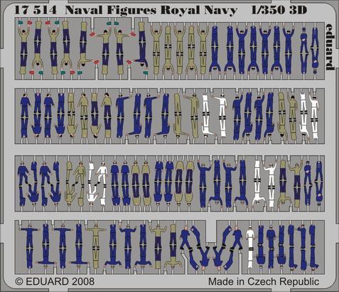 Naval Figures Royal Navy 3D 1/350