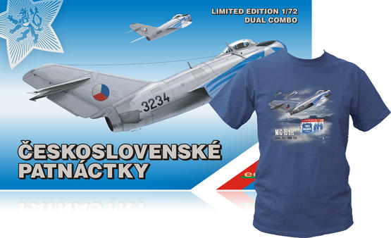 MiG-15 in Czechoslovak service DUAL COMBO -T-Shirt (M) 1/72