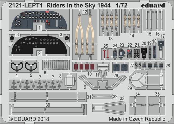 Riders in the Sky 1944 PE-set 1/72  - 1