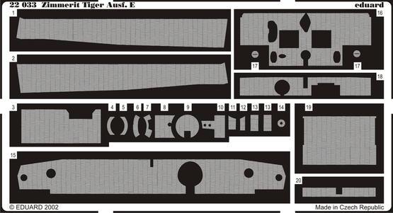 Zimmerit Tiger I 1/72
