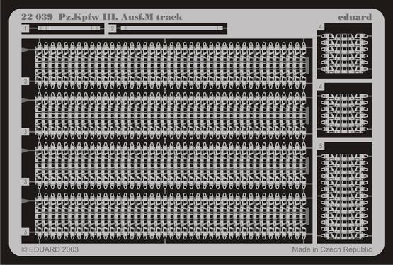 Pz.III Ausf.M track 1/72