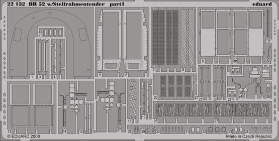 BR 52 w/Steifrahmentender p. 1 1/72  - 1