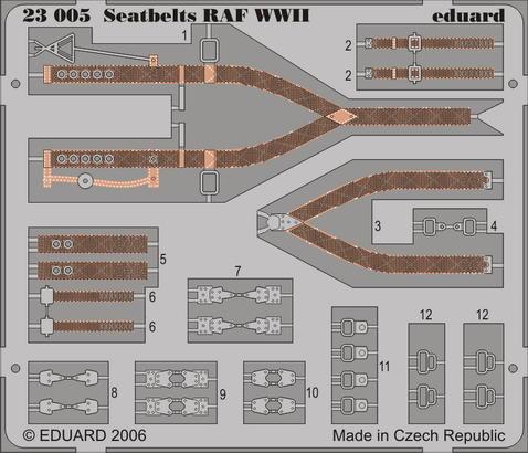 Seatbelts RAF WWII 1/24