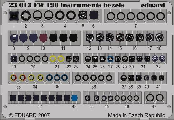 Fw 190 instruments bezels 1/24