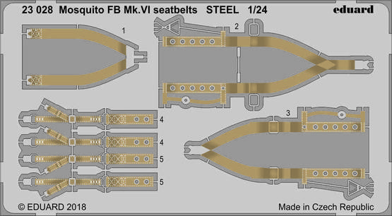 Mosquito FB Mk.VI seatbelts STEEL 1/24