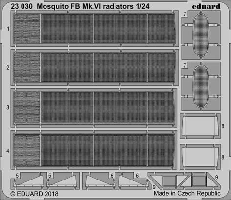 Mosquito FB Mk.VI radiators 1/24