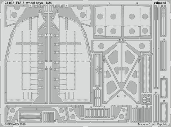 F6F-5 podvozkové šachty 1/24
