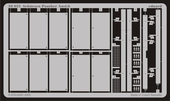 Schürzen Panther Ausf.G 1/48