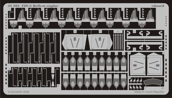 F6F-3 engine 1/32