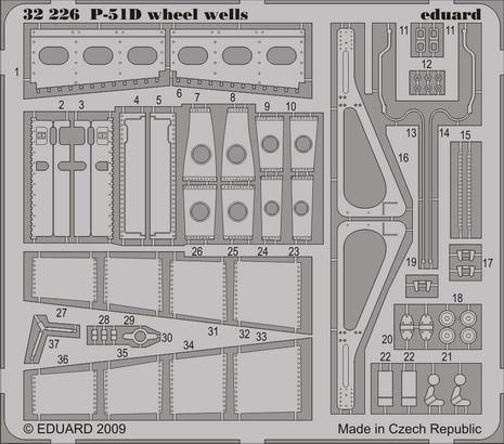 P-51D wheel wells 1/32