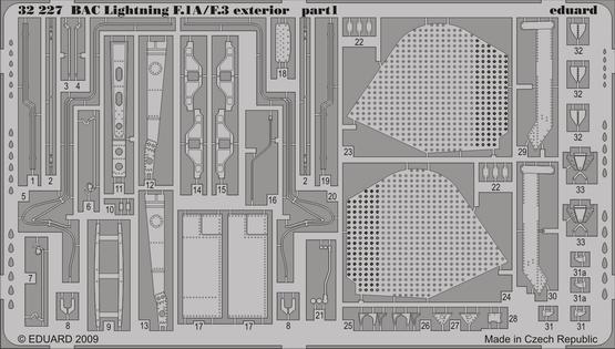 BAC Lightning F.1A/F.3 exterior 1/32  - 1